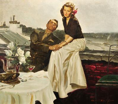 Mortimer Jr. Wilson, 'Couple at European Rooftop'