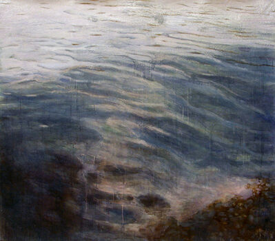 May Stevens, 'Water's Edge II, Charles River, Cambridge, MA', 2003