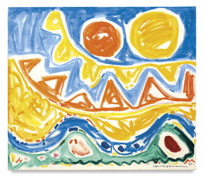 Hans Hofmann, 'Blue Arcata', 1955