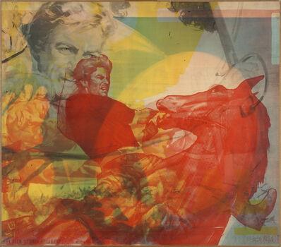 Mimmo Rotella, 'Cavalcata selvaggia', 1966