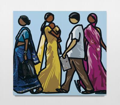 Julian Opie, 'Walking in Mumbai', 2013