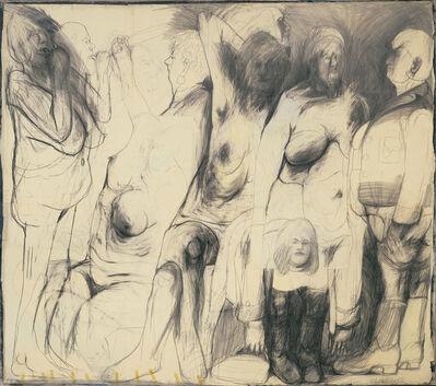 """Alfred Hrdlicka, 'Werkskizze zu """"Tausendundeinenacht', 1967"""