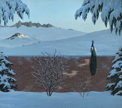 Evelyn Taylor, 'Untitled (Winter Landscape with Peacock)', 1984