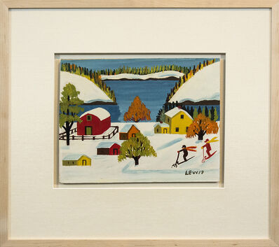 Maud Lewis, 'Two Skiers', Mid-20th Century