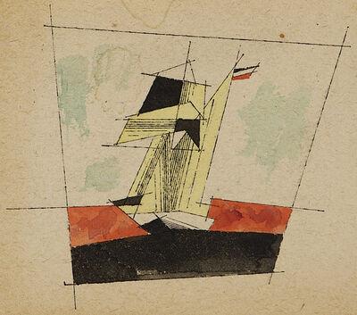 Lyonel Feininger, 'Untitled (Sailing Ship)', ca. 1934