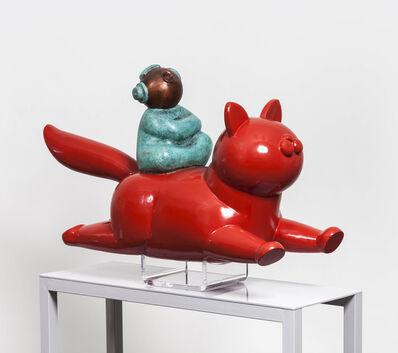 Jiang Shuo, '红猫和女孩; Red Cat and Girl', 2013