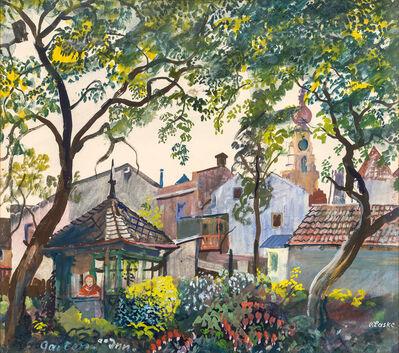 Oskar Laske, 'Garden at the Inn', ca. 1945