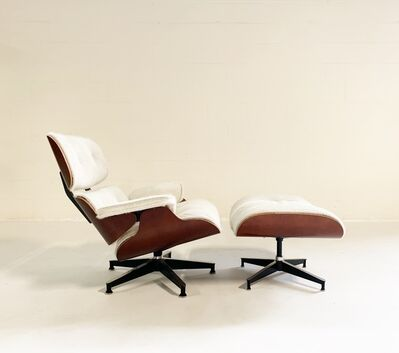 Charles and Ray Eames, '670 Lounge Chair and 671 Ottoman in Brazilian Cowhide', mid 20th century