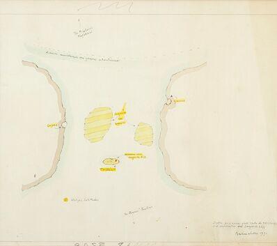 Gianfranco Baruchello, 'Sulla posizione dell'isola di Tristan e il domicilio del sergente Loss', 1991