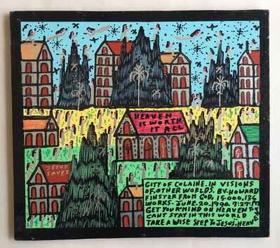 Howard Finster, 'City of Colaine in Visions of Other Worlds', 1990