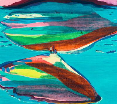 Jules de Balincourt, 'Another Divided Island', 2017