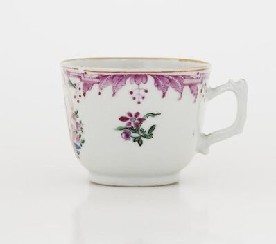 'Coffee Cup, Teacup and Saucer with Anniversary Pattern', 1774