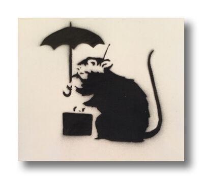 After Banksy, 'Umbrella Rat', 2015
