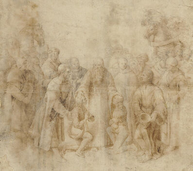 Raphael, 'Saint Benedict receiving Maurus and Placidus'