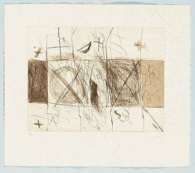 Antoni Tàpies, 'Quadrats i grafismes', 1976