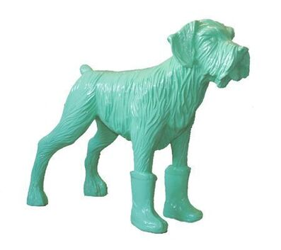 William Sweetlove, 'Cloned pistachio dog with plastic boots', 2008