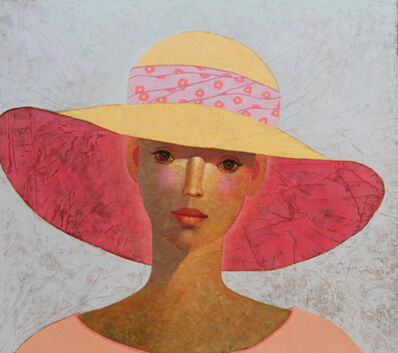 Heinz Rabbow, 'Lady with flowered ribbon', 2018