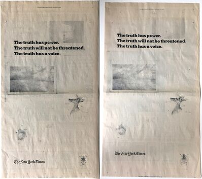 Terri Thornton, 'New York Times Truth Campaign: Five Difficulties (Diptych) ', 2018-2019
