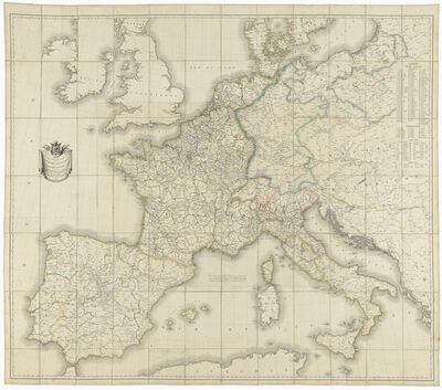 Pierre-Antoine Tardieu, 'Carte des routes de postes de l'Empire français (Map of the French Empire posts)', 1811