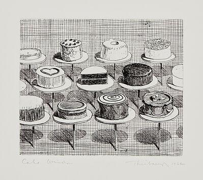 Wayne Thiebaud, 'Cake Window', 1964