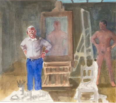 Paul Wonner, 'Artist and Model, Hands on Hips', 2002