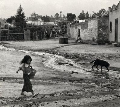 Helen Levitt, 'Mexico City (girl and dog)', 1941