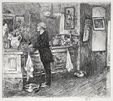 Childe Hassam, 'A New England Barroom', 1917