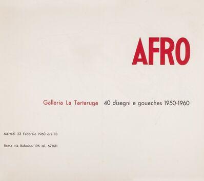 Afro (Afro Basaldella), '40 disegni e gouaches 1950-1960', 1960