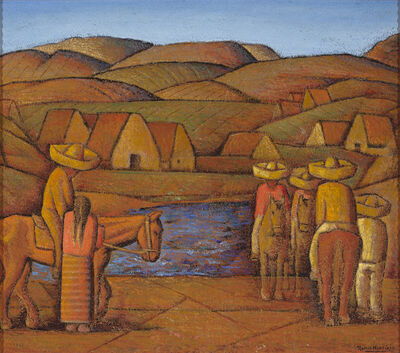 Alfredo Ramos Martínez, 'In the Ranch, Mexico', ca. 1935