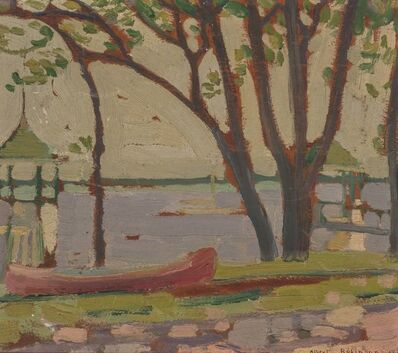 Albert Henry Robinson, 'The Red Canoe (a double-sided work)', 1920