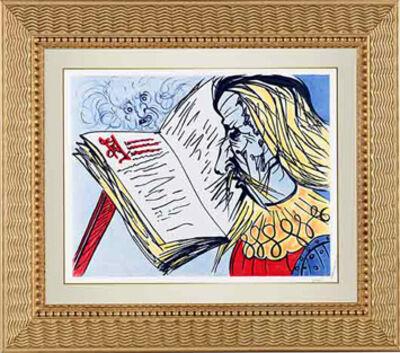 "Salvador Dalí, '""The Story of Don Quixote"" Hand Signed Salvador DaliLithograph', 1941-1957"