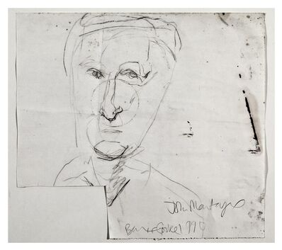 Barrie Cooke, 'John Montague', 1990