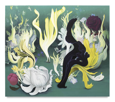 Inka Essenhigh, 'Party of the Flames and Flowers', 2017