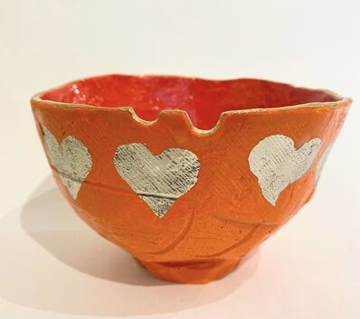 Jun Kawajiri, 'Orange Heart Tea Bowl A50', 2021