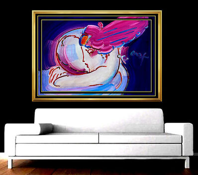 Peter Max, 'PETER MAX Original Signed PAINTING Large I LOVE THE WORLD Pop ART Acrylic oil', 21st Century