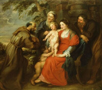 Peter Paul Rubens, 'The Holy Family with Saint Francis', 1620-1630