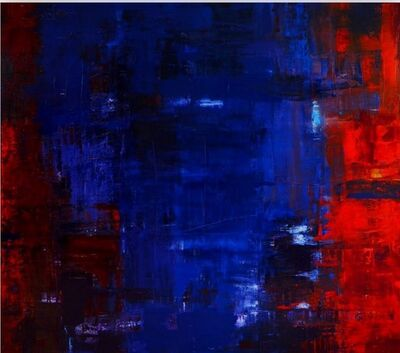 Catherine Timotei, 'Fast co- exist, catalyst, reflection red on blue', 2015