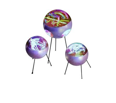 Alê Jordão, 'Neon Balls with tripod S M L', 2019