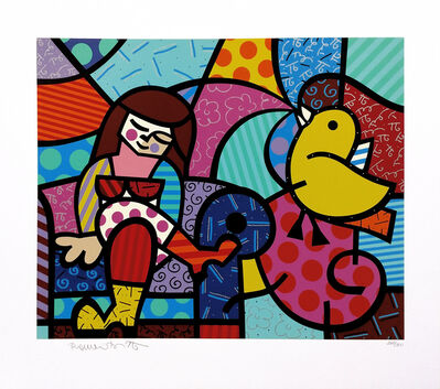 Romero Britto, 'ONLY YOU CAN HEAR', 1996