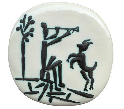 Pablo Picasso, 'Joueur de flûte et chèvre (A.R.382)', 1956