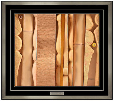 Donald Roller Wilson, 'Donald Roller Wilson Original Wood Relief Sculpture Hand Signed Artwork Painting', 1970
