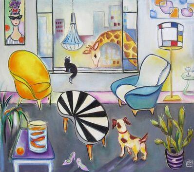 Zoa Ace, 'Interior with Giraffe', 2015