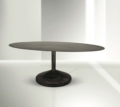 Franco Albini, 'a large oval table with a lacquered iron structure and a coated iron top', 1956