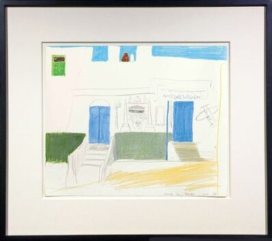 David Hockney, 'House in Aswan', 1978