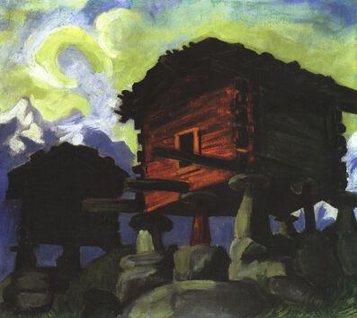 Max Pechstein, 'Walliser Hütten ', 1923