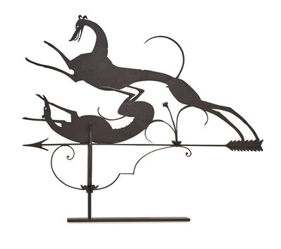 "William Hunt Diederich, 'Weathervane, ""Two Hounds""'"