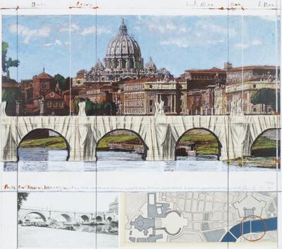 Christo, 'Wrapped Ponte Sant-Angelo', 2011