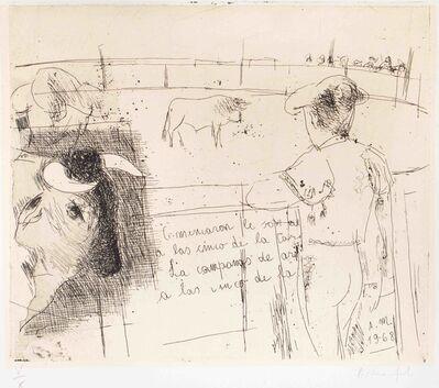 ALBERTO MANFREDI, 'Corrida de toros', 1968