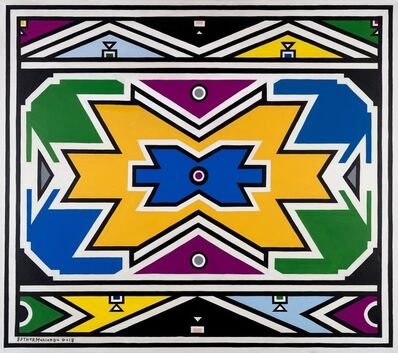 Esther Mahlangu, 'Ndebele Abstract - C2705', 2018
