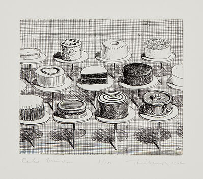 Wayne Thiebaud, 'Cake Window, from Delights', 1964